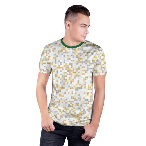 Мужская футболка 3D спортивная  Фото 03, Мозаика