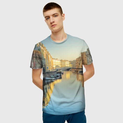 Мужская футболка 3D Питер Фото 01