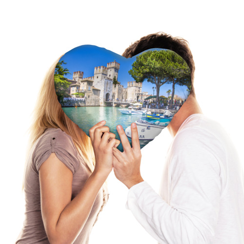 Подушка 3D сердце  Фото 03, Италия