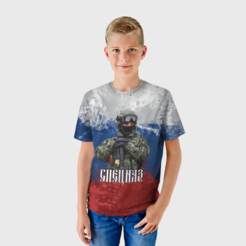 Детская футболка 3D Спецназ триколор