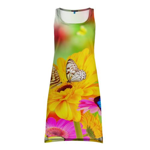 Платье-майка 3D  Фото 01, Цветы