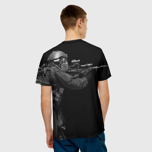 Мужская футболка 3D  Фото 02, Спецназ 16
