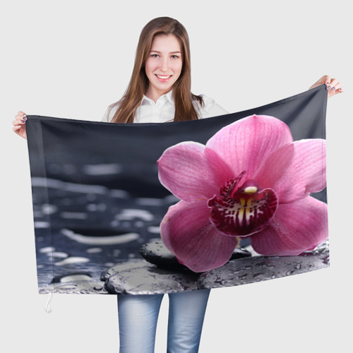 Флаг 3D Цветы Фото 01