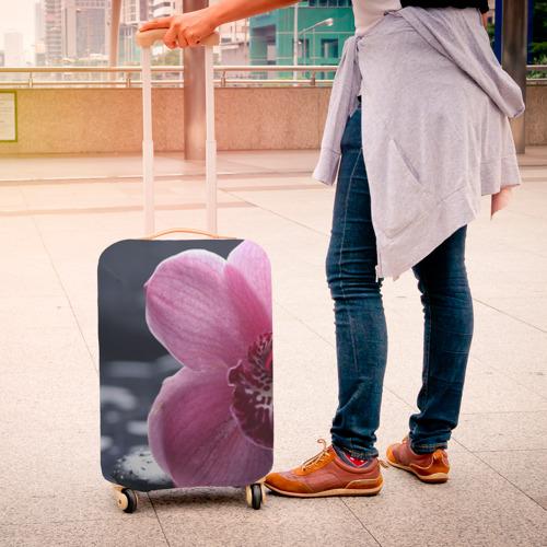Чехол для чемодана 3D Цветы Фото 01