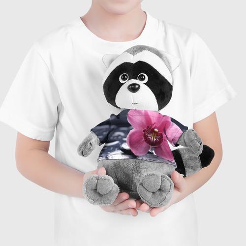 Енотик в футболке 3D Цветы Фото 01