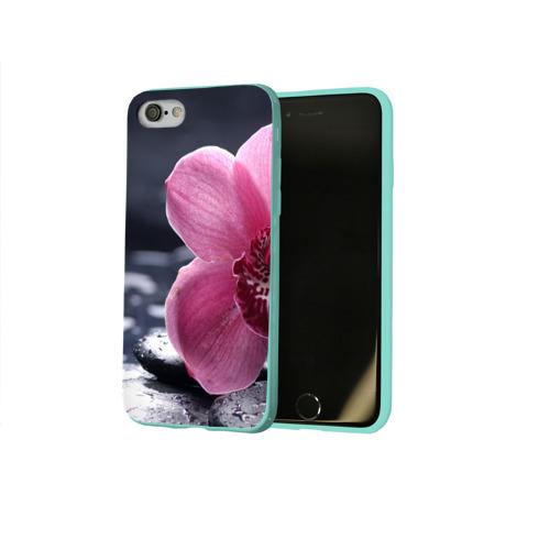 Чехол для Apple iPhone 8 силиконовый глянцевый Цветы Фото 01