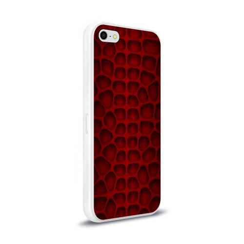 Чехол для Apple iPhone 5/5S силиконовый глянцевый Шкура дракона Фото 01