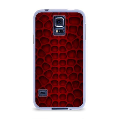 Чехол для Samsung Galaxy S5 силиконовый  Фото 01, Шкура дракона