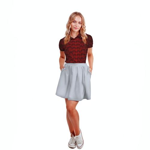 Женская рубашка поло 3D Шкура дракона Фото 01