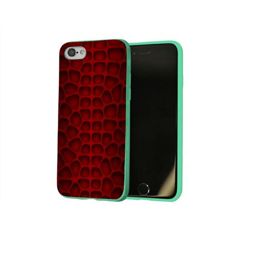 Чехол для Apple iPhone 8 силиконовый глянцевый Шкура дракона Фото 01