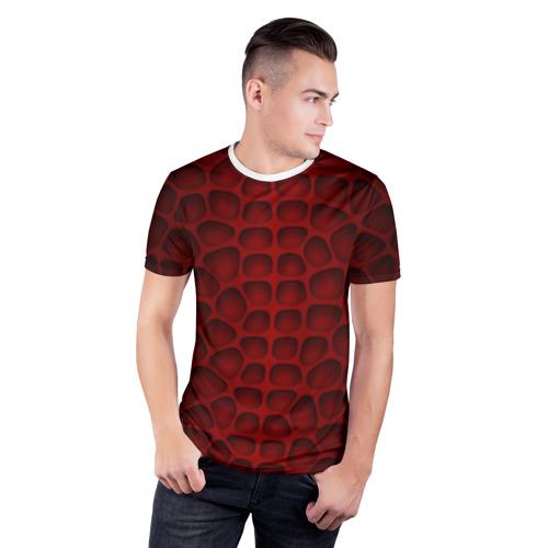 Мужская футболка 3D спортивная  Фото 03, Шкура дракона