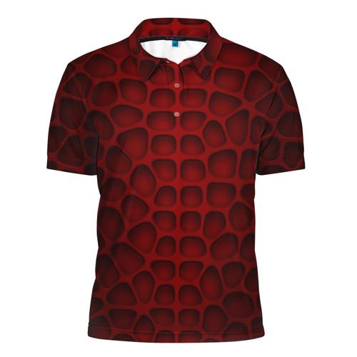 Мужская рубашка поло 3D Шкура дракона Фото 01
