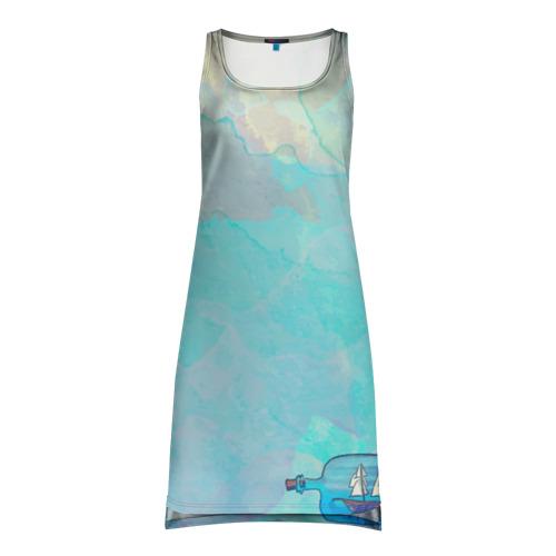 Платье-майка 3D Корабль в бутылке