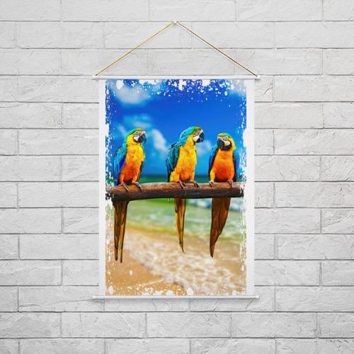 Тканевый плакат  Фото 02, Попугаи (retro style)
