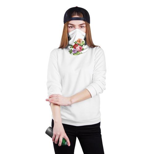 Бандана-труба 3D  Фото 02, Акварельные цветы