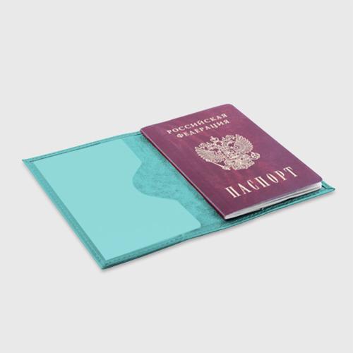 Обложка для паспорта матовая кожа Роза Фото 01