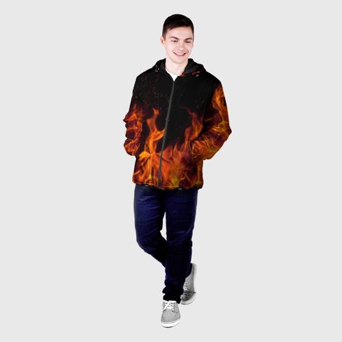 Мужская куртка 3D Огонь с искрами Фото 01