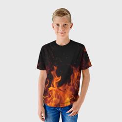 Огонь с искрами