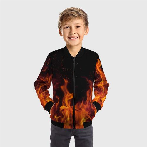 Детский бомбер 3D Огонь с искрами Фото 01