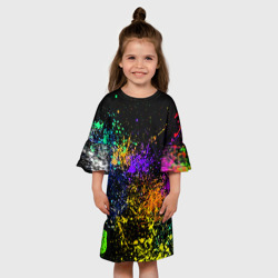 Детское платье 3DБрызги красок