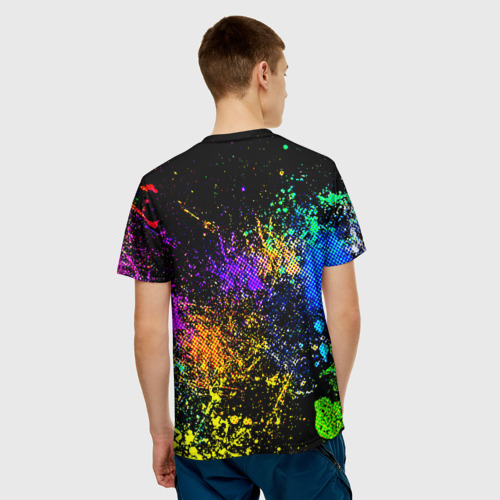 Мужская футболка 3D  Фото 02, Брызги красок