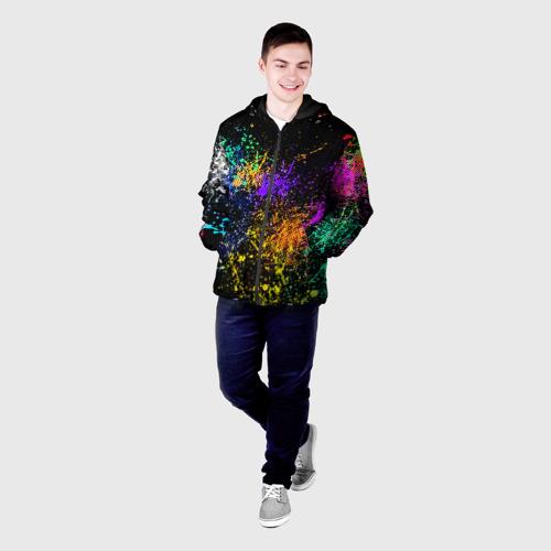 Мужская куртка 3D Брызги красок Фото 01