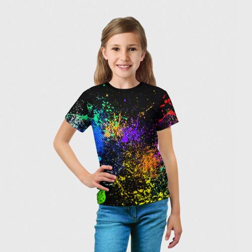 Детская футболка 3D Брызги красок Фото 01