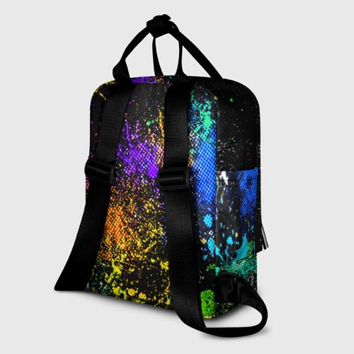 Женский рюкзак 3D Брызги красок Фото 01