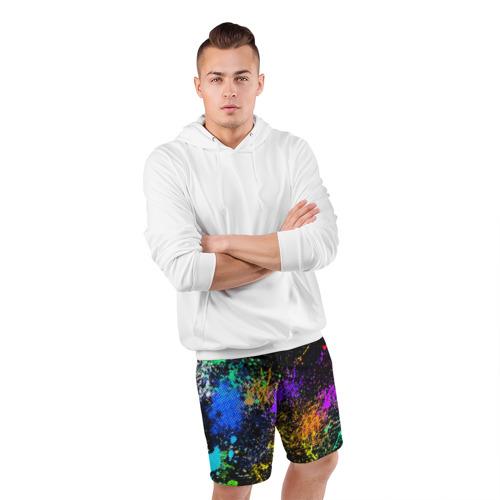 Мужские шорты спортивные Брызги красок Фото 01