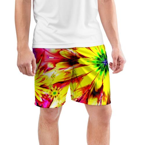 Мужские шорты 3D спортивные  Фото 03, Цветочный