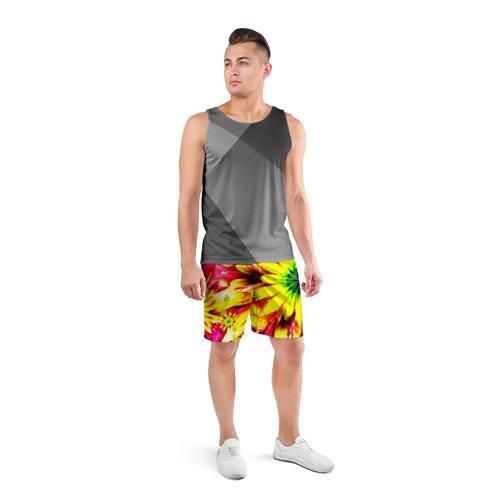 Мужские шорты 3D спортивные  Фото 04, Цветочный