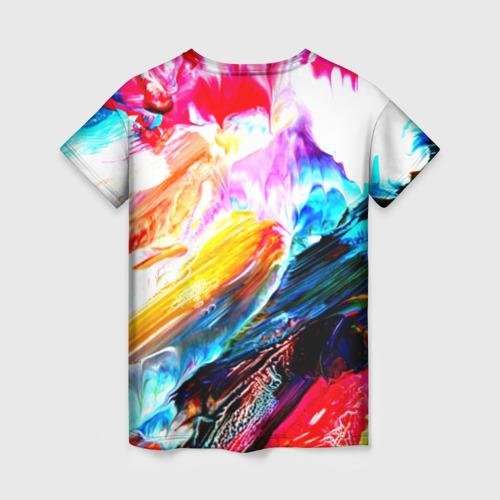 Женская футболка 3D Абстракция красок Фото 01