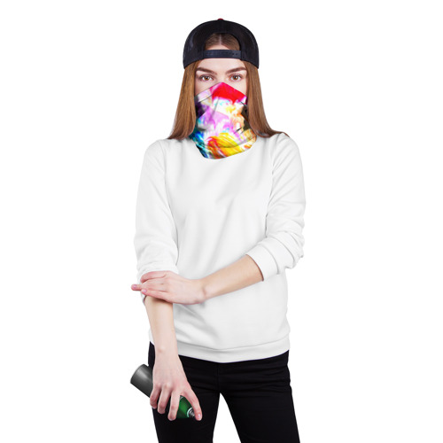 Бандана-труба 3D  Фото 02, Абстракция красок
