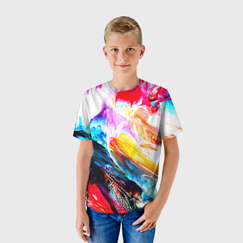 Детская футболка 3D  Фото 01, Абстракция красок