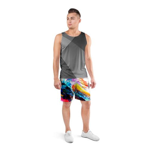 Мужские шорты 3D спортивные  Фото 04, Абстракция красок
