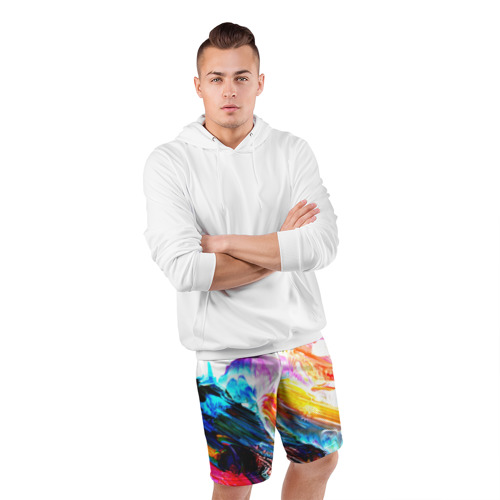 Мужские шорты 3D спортивные  Фото 05, Абстракция красок