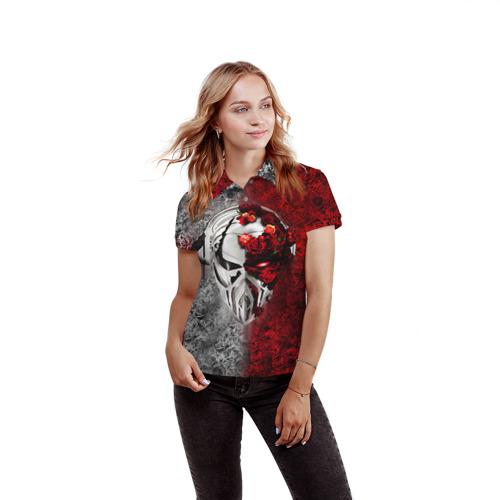 Женская рубашка поло 3D Пиратская станция 4