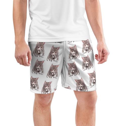 Мужские шорты 3D спортивные  Фото 03, Лисичка аниме