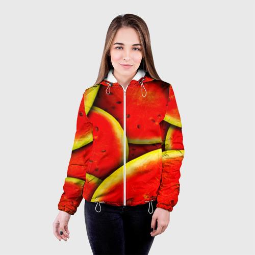 Женская куртка 3D  Фото 03, Арбуз