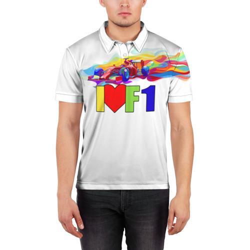 Мужская рубашка поло 3D  Фото 03, Я люблю F1