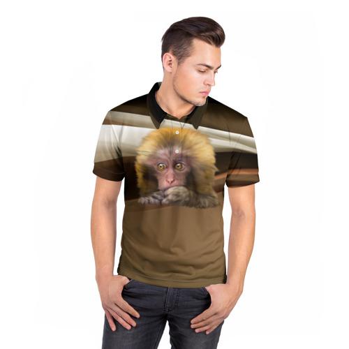 Мужская рубашка поло 3D  Фото 05, Мартышка