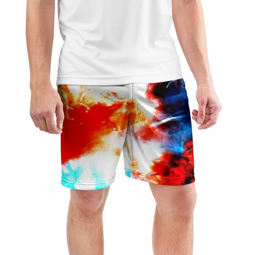Мужские шорты 3D спортивные  Фото 03, Потертость
