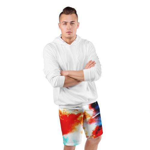 Мужские шорты 3D спортивные  Фото 05, Потертость
