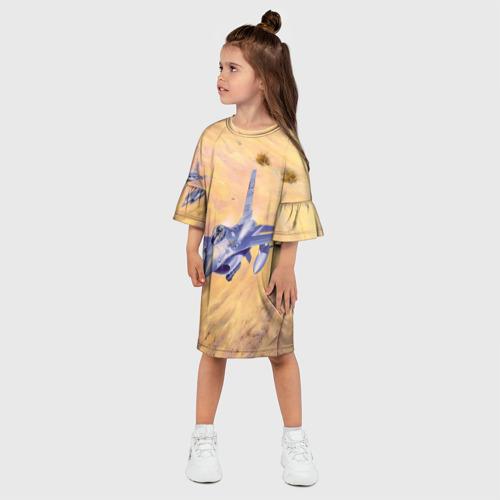 Детское платье 3D  Фото 03, Самолет