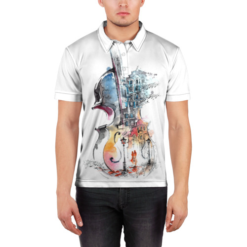 Мужская рубашка поло 3D  Фото 03, Скрипка
