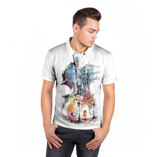 Мужская рубашка поло 3D  Фото 05, Скрипка
