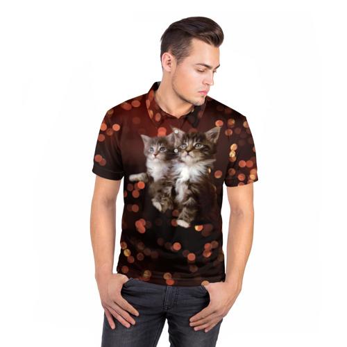 Мужская рубашка поло 3D  Фото 05, Котята