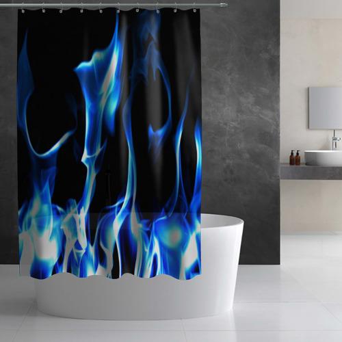 Штора 3D для ванной Огонь Фото 01
