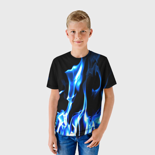 Детская футболка 3D Огонь Фото 01