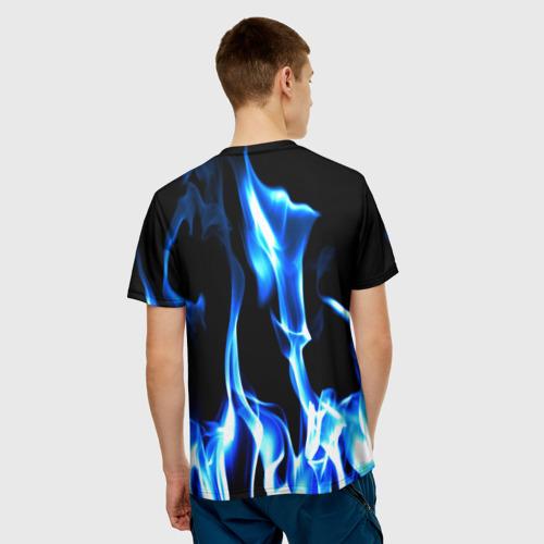 Мужская футболка 3D Огонь Фото 01